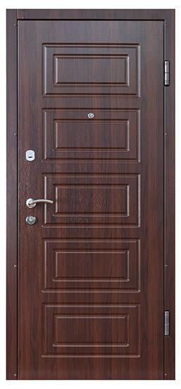 Орех темный входные двери СТАНДАРТ СК-2